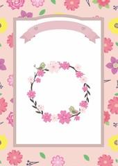 Wedding Card, Cute Background, Flower Frame