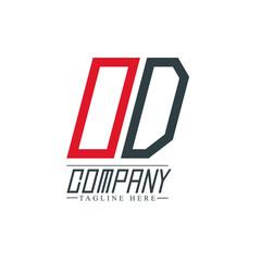 Initial Letter OD Design Logo Template