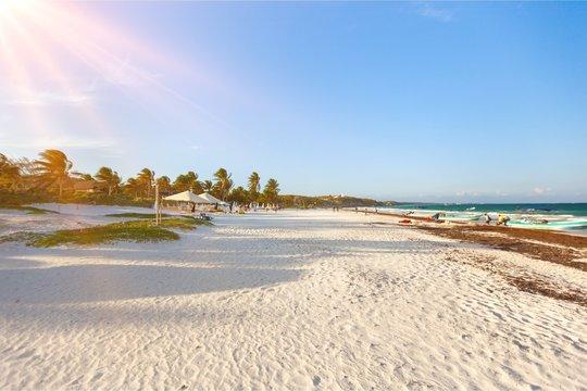 Beach landscape.