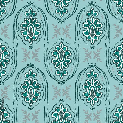 Ornate Retro Style Bollywood Deco Wallpaper Seamless Repeat Tile