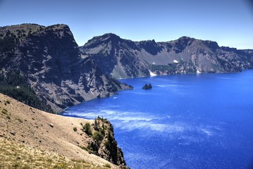 Wind Ripples the Waters of Crater Lake