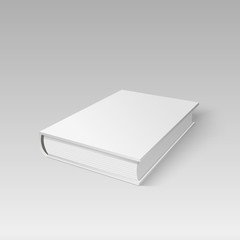 Blank cover book for your design in perspective view. Vector