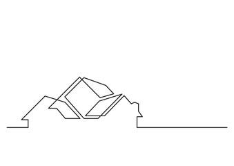 one line logo design of real estate agency