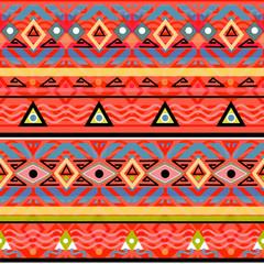 Seamless tribal ethno folk pattern in retro