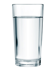 water glass isolated vector illustration
