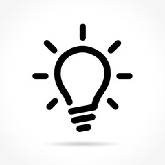 light bulb icon on white background