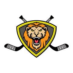 Lion hockey team logo