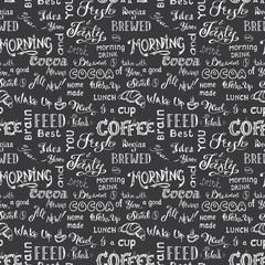 Coffee seamless pattern,