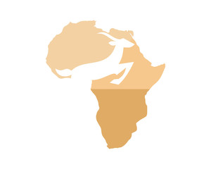 african antelope goat animal safari zoo icon image vector