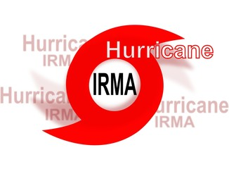 Hurricane Irma, red icon