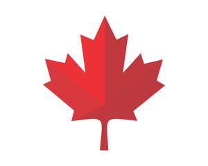 red canada maple leaf icon image vector