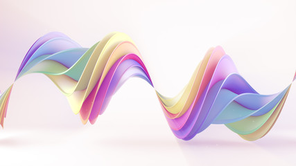 Multicolor twisted 3D shape