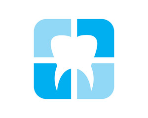 silhouette tooth dental dentists icon logo image vector
