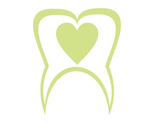 heart tooth dental dentists icon logo image vector