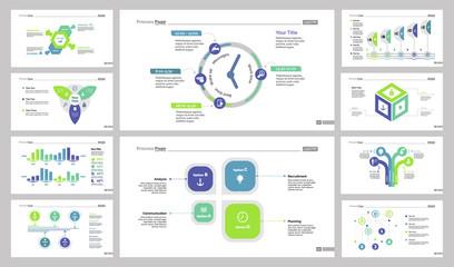 Business presentation slide design set