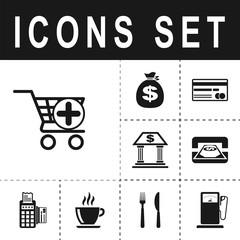 icon shopping cart add
