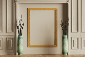 Classic Wall and Picture Frame 3D-illustration