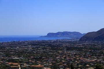 Palermo vista dall'alto Monreale