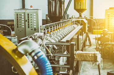 Industrial machine in the factory,  plastic industry Wall mural