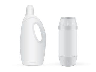 Plastic bottle for your design and logo. It's easy to change colors. Mock up. Vector EPS1