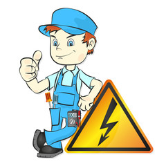 Electrician for repair vector