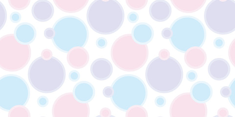 pastel pale color abstract bubble vector illustration.  tender elegant style abstract geometry seamless pattern design .