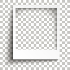 Wall Mural - Instant Photo Frame Transparent Shadows