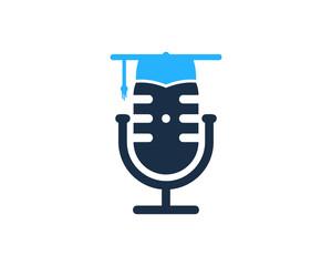 Education Podcast Icon Logo Design Element