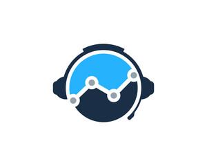 Graph Podcast Icon Logo Design Element