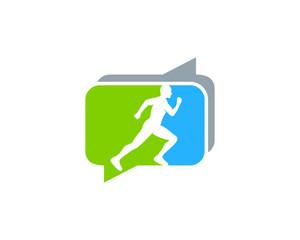Run Forum Icon Logo Design Element