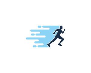 Fast Run Icon Logo Design Element