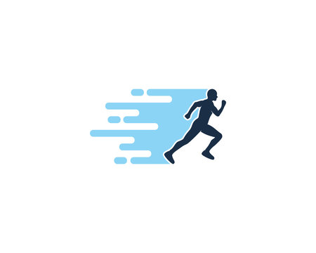 Fast Run Icon Logo Design Element
