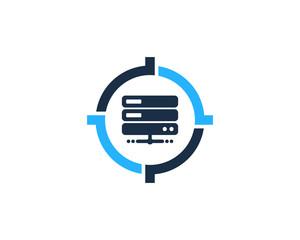 Server Target Icon Logo Design Element