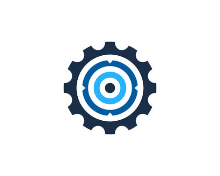 Target Gear Icon Logo Design Element