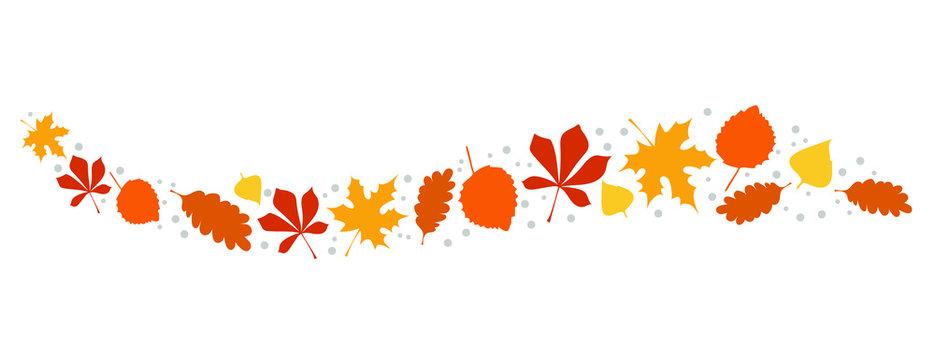 Herbstlaub Deko