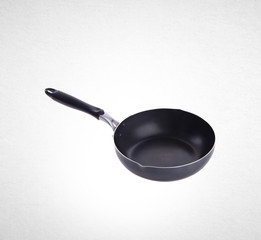 pan or metal frying pan on a background.