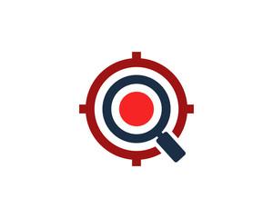 Target Search Icon Logo Design Element