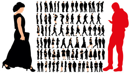 silhouette people, big collection