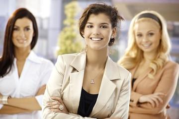 Portrait of confident happy businesswomen
