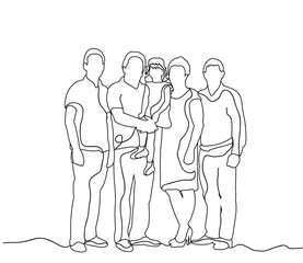 happy family sketch, outlines, lines