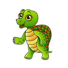 Cartoon turtle isolated vector illustration