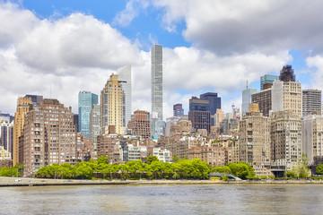 Manhattan skyline on a summer day, New York City, USA.