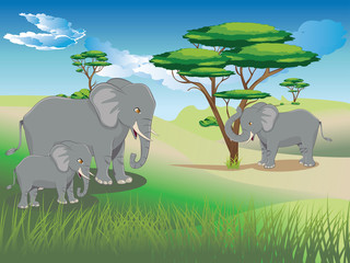 Landscape with Elephant