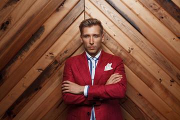 Trendy man in classy suit