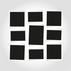 Empty photo frames layout