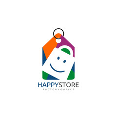 Happy Store Shopping Logo