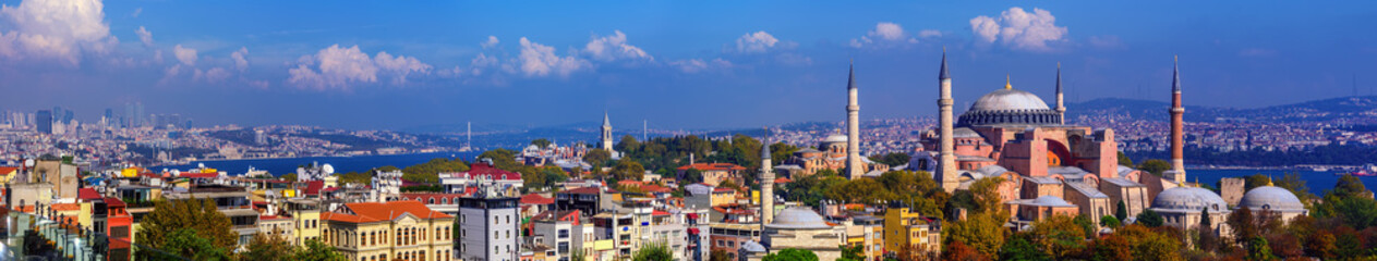 Panorama of Istanbul city, Turkey