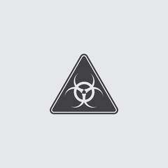 Toxic sign icon in a flat design in black color. Vector illustration eps10