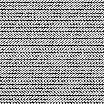 Black and white rug woven striped fabric seamless pattern, vector