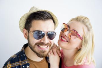 Young fashionable couple